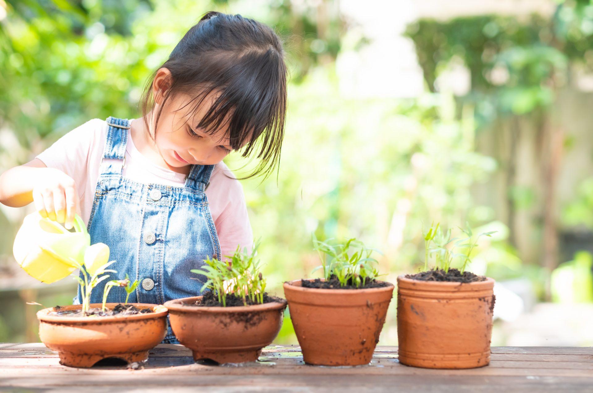 Enfant-arrosage-plantes